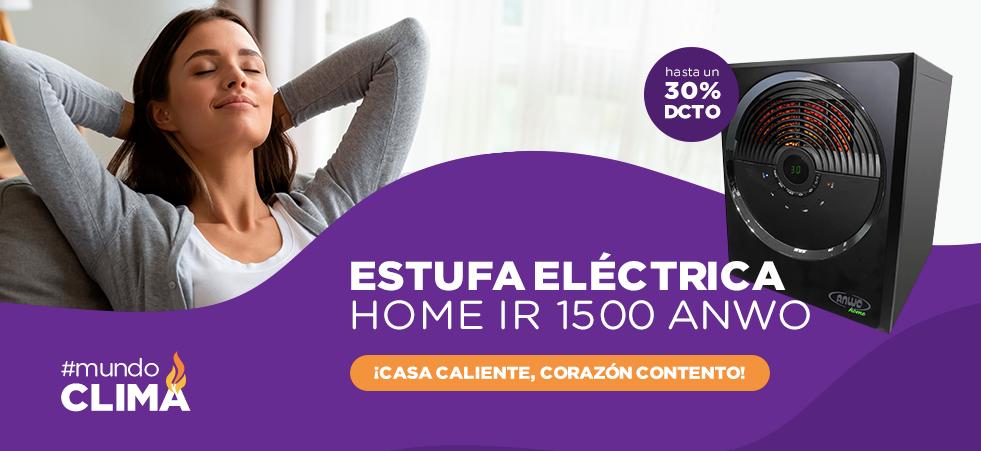 Estufa Eléctrica Home IR 1500 ANWO ¡Casa caliente, corazón contento! Hasta un 30% de descuento. #mundoclima