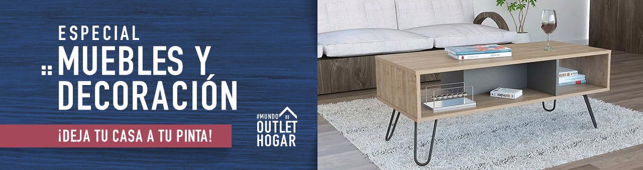 Especial Muebles y Decoración ¡Deja tu casa a tu pinta! #mundooutlethogar